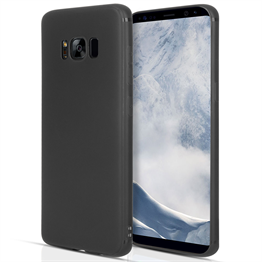 Samsung Galaxy S8 Plus Matte Silicone Gel Case - Black